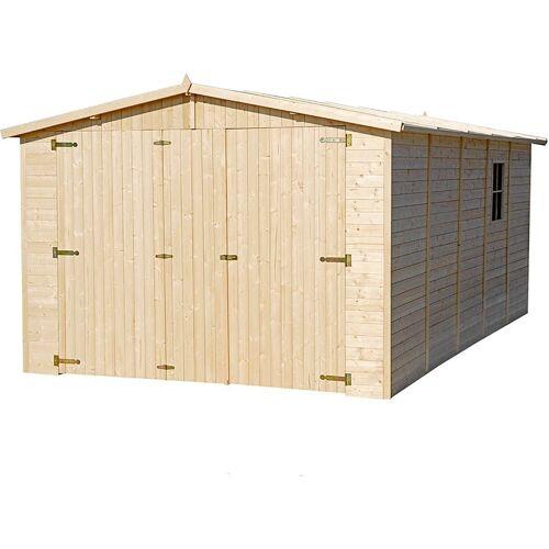 Timbela - Holzgarage - Abstellraum mit Fenstern - H222x516x324 cm/15 m²