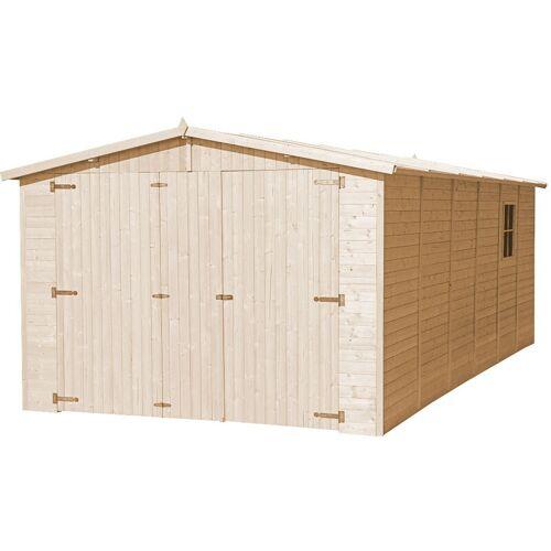 Timbela - Holzgarage - Abstellraum mit Fenstern- H222x616x324 cm /18 m2