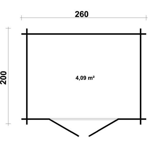 Gartentiger - Gartenhaus aus Holz Modell Korfu-28 , mit Imprägnierung ,