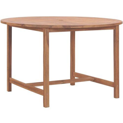 VIDAXL Gartentisch 120 x 76 cm Massivholz Teak