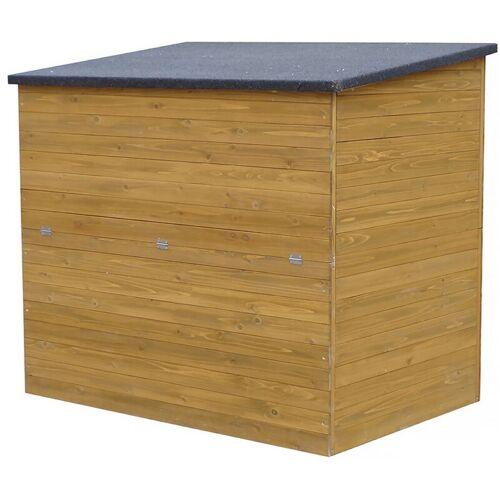 HABITAT ET JARDIN Gartentruhe aus Holz Caja - 137 x 91 x 121 cm - Braun