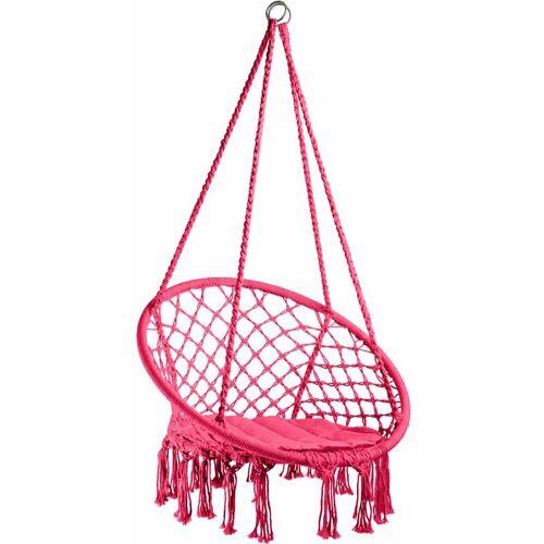 TECTAKE Hängesessel Jane - Sitzhängematte, Hängematte, Hängestuhl - pink