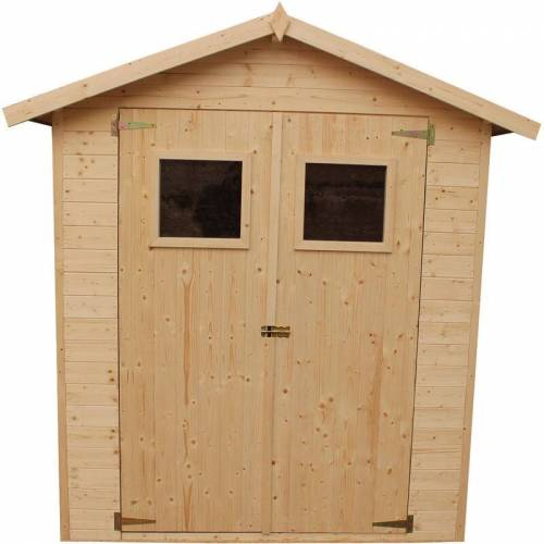Timbela - Holz Gartenschuppen -Abstellraum mit Boden- H216 x 206 x 200