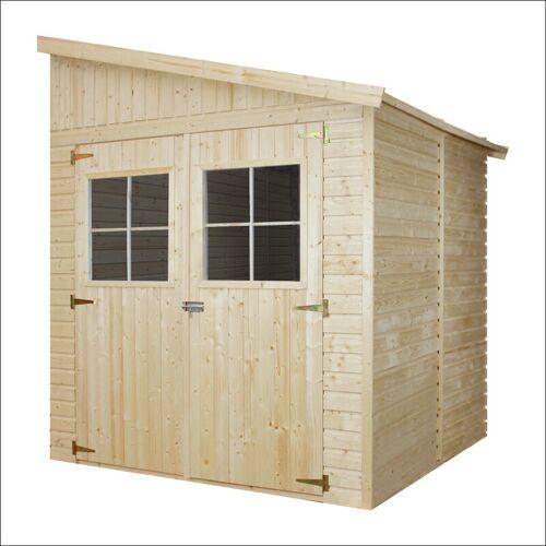 Timbela - Holz Gartenschuppen (mit Seitenwand) - Abstellkammer mit