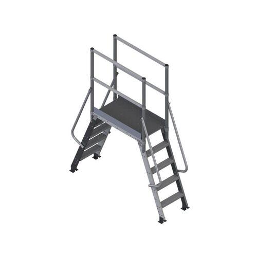 PLATTFORMLEITER EXPERTEN I. Leiternüberstieg 50°; Plattformlänge 60cm; Durchgangsbreite 75cm;