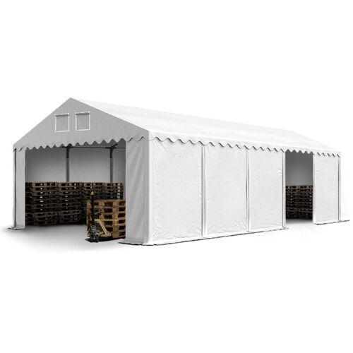 Profizelt24 - Stabiles Lagerzelt Zelthalle 5 x 10 m in weiß ca. 500g/m²