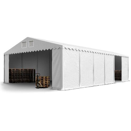 Profizelt24 - Stabiles Lagerzelt Zelthalle 8 x 12 m in weiß ca. 500g/m²