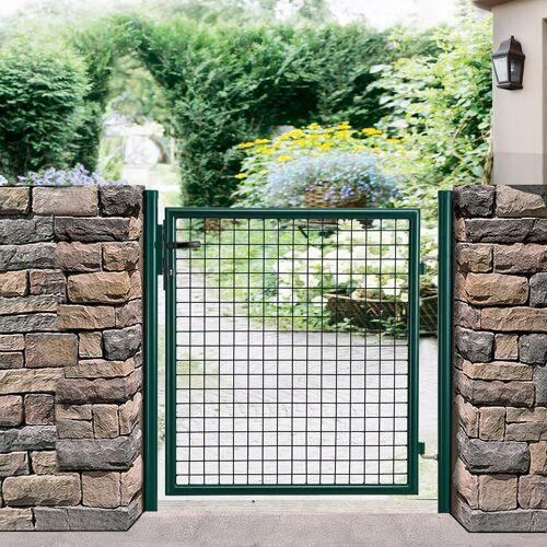 PRO.TEC Gartentür 150x106 grün Gartentor Zauntür Gartenpforte Gartenzaun Tür