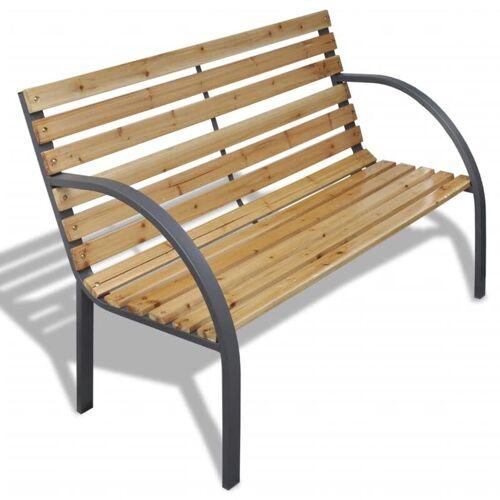 YOUTHUP Gartenbank 120 cm Holz und Eisen