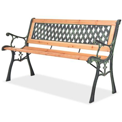 YOUTHUP Gartenbank 122 cm Holz Garten-Sitzbank aus Holz Gartenmöbel - Youthup