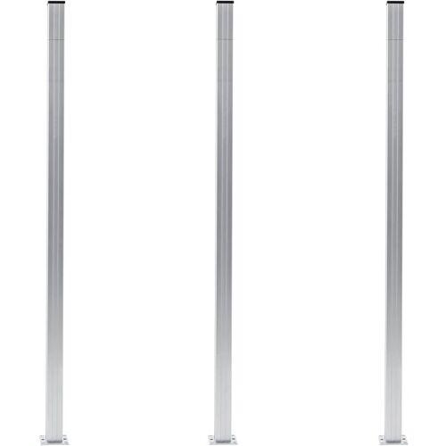 YOUTHUP Zaunpfosten 3 Stk. Aluminium 185 cm - Youthup