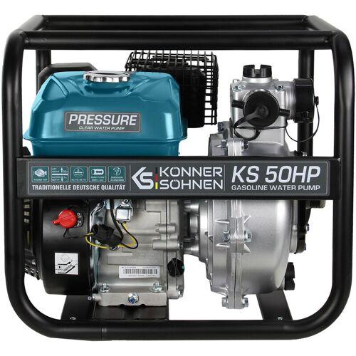 KÖNNER & SÖHNEN Könner&söhnen - KS 50 HP Benzin Wasserpumpe, Hochdruck, 7.0 PS, 500