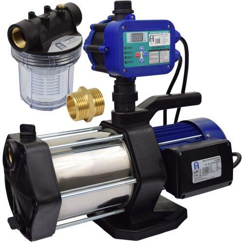 AGORA-TEC ® Hauswasserautomat Hauswasserwerk 5-1300-15DW-1L mit Vorfilter