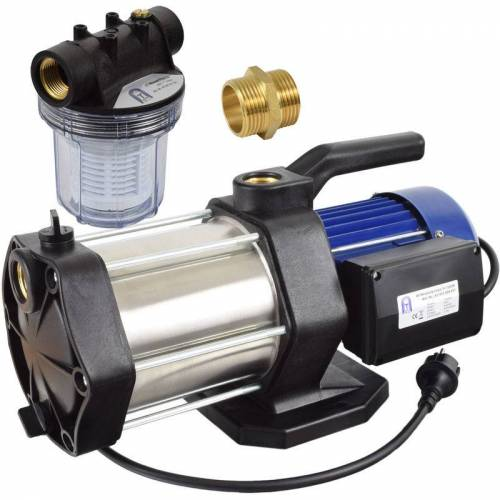 AGORA-TEC ® mehrstufige Kreiselpumpe-5-1300W-1L mit Vorfilter - Agora-tec