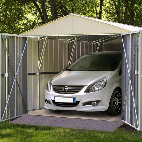 Arrow Metall-Gerätehaus / Carport 'Commander 1025' creme / nuss 22,6 m²