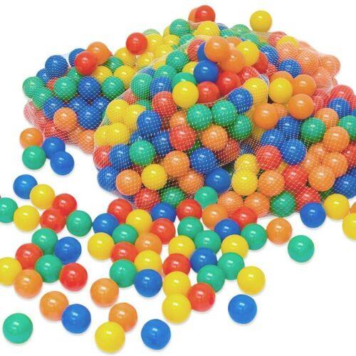 LittleTom 3000 bunte Bälle für Bällebad 6cm Babybälle Plastikbälle Baby