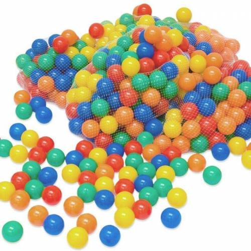LittleTom 800 bunte Bälle für Bällebad 6cm Babybälle Plastikbälle Baby
