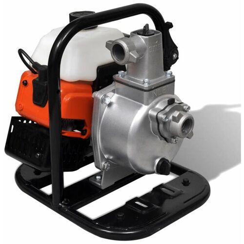 TOPDEAL Benzinbetriebene Wasserpumpe 2 Takt 1,45 kW 0,95 l 04090