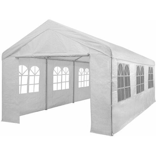DEUBA Partyzelt 6x3m Pavillon 18qm Festzelt Carport Bierzelt Gartenzelt Zelt