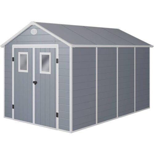 HABITAT ET JARDIN Gerätehaus Texas - 8.82 m² - 368 x 242 x 239 cm - Grau - HABITAT ET