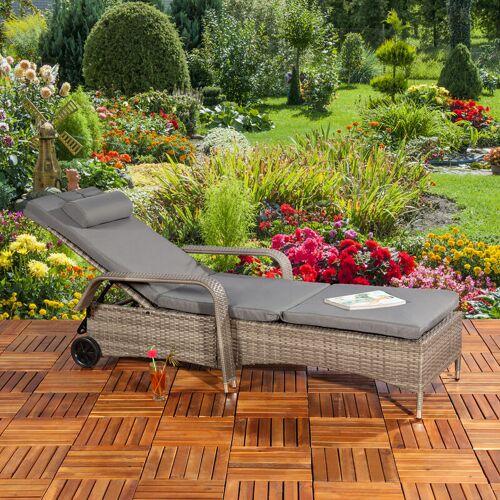 Mucola - Gartenliege Sonnenliege Liegestuhl Loungeliege Polyrattan