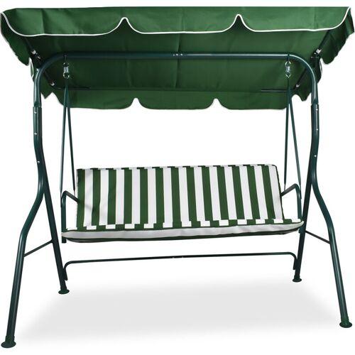 FRANKYSTAR Gartenschaukel im Freien Dreisitzige Terrassenschaukel 170X110Xh152 Cm