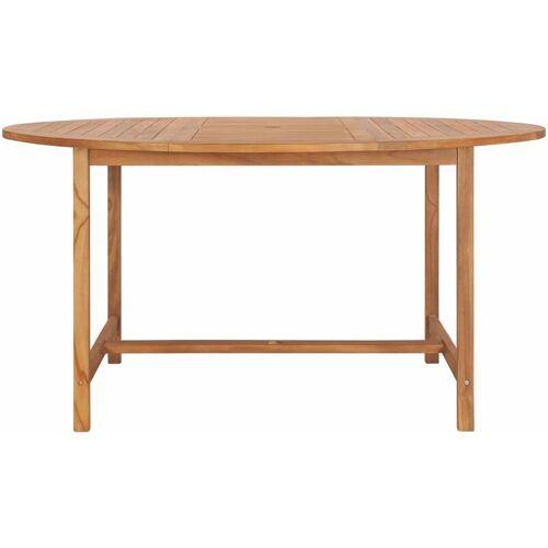 Vidaxl - Gartentisch 150 x 76 cm Massivholz Teak