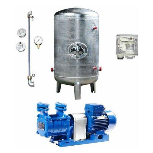 WIMEST Hauswasserwerk 1,1 kW 230V 91 l/min Druckbehälter 100-495 L verzinkt