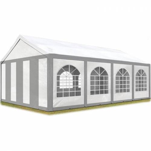 Profizelt24 - Hochwertiges Partyzelt 4x8 m Pavillon Zelt 240g/m² PE