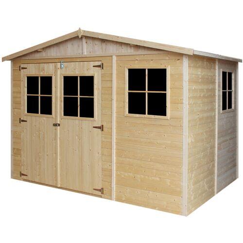 Timbela - Holz Gartenschuppen - Abstellkammer mit Fenstern - 216x324