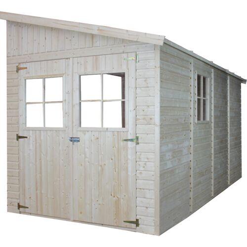 Timbela - Holz Gartenschuppen (ohne Seitenwand) - Abstellkammer mit