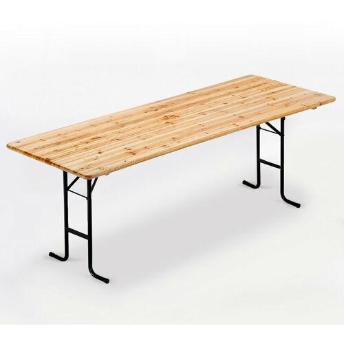 WOOD DECOR Holztisch für Biergarten Gartenfeier 220x80