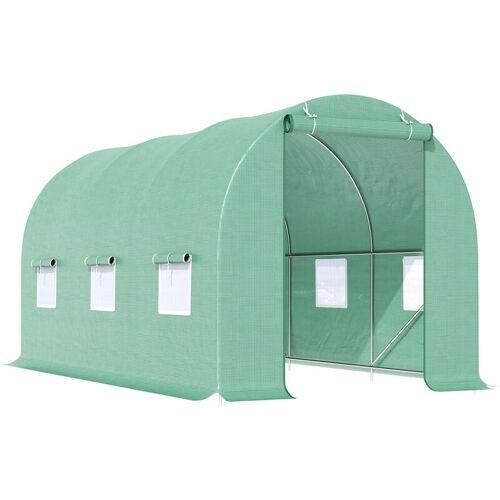 Outsunny® Foliengewächshaus   Treibhaus   4,5 x 2 x 2 m   Grün - grün