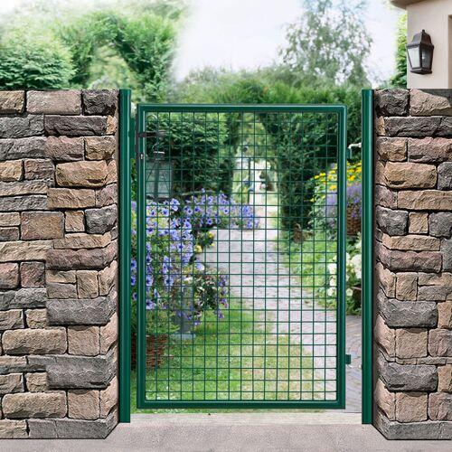 PRO.TEC Gartentür 175x106 grün Gartentor Zauntür Gartenpforte Gartenzaun Tür