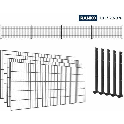 RANKO SET RANKO Doppelstabmattenzaun Typ 8/6/8 mit Pfosten