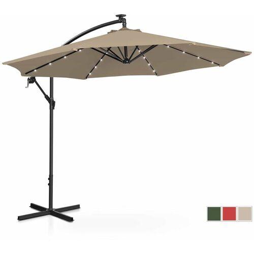 UNIPRODO Sonnenschirm Ampelschirm mit LED UNI_UMBRELLA_R300TAL Gartenschirm