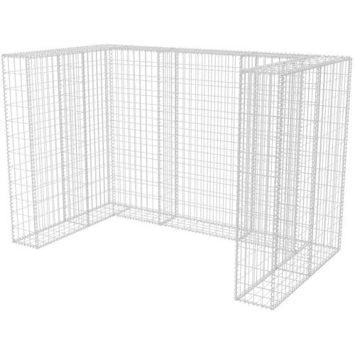 Vidaxl - Gabionen-Mülltonnenverkleidung Stahl für 2 Tonnen 180×100×120cm