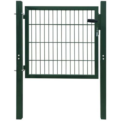 VIDAXL Zauntor Stahl Grün 103×150 cm