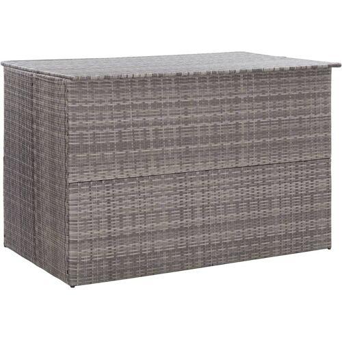 YOUTHUP Gartenbox Grau 150×100×100 cm Poly Rattan