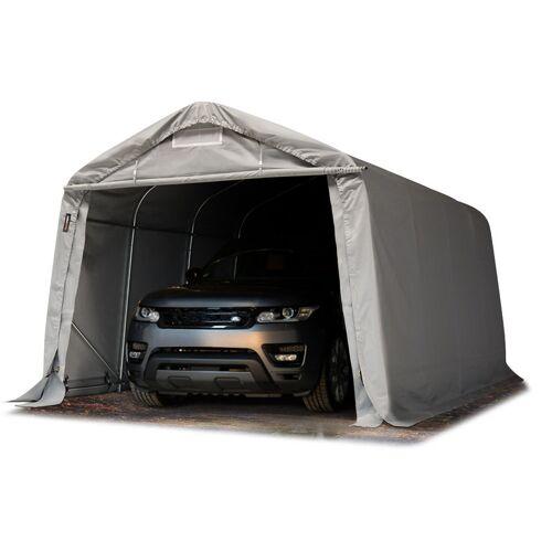 Profizelt24 - Garagenzelt Carport 3,3 x 4,8 m in grau Weidezelt