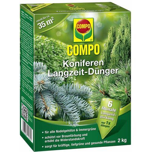 COMPO Koniferen Langzeit-Dünger 2 kg für ca. 35 m² - Compo