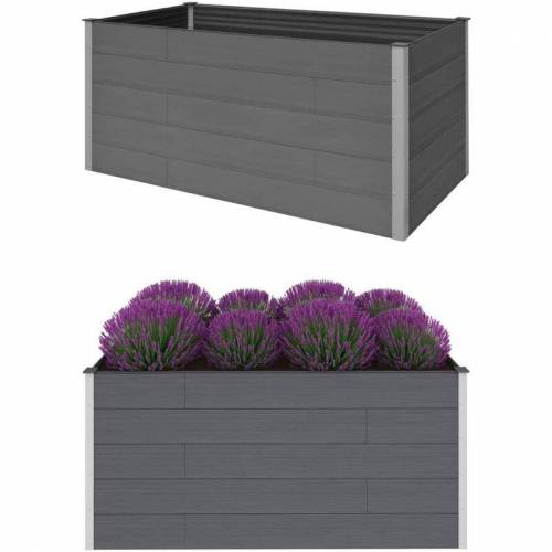 Vidaxl - Garten-Hochbeet Grau 200 x 100 x 91 cm WPC