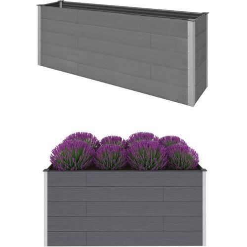 Vidaxl - Garten-Hochbeet Grau 200 x 50 x 91 cm WPC