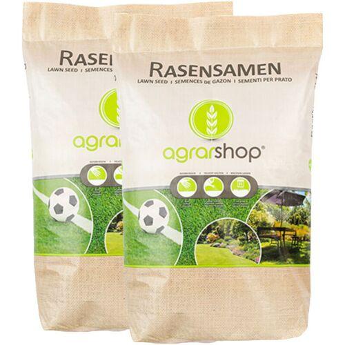 AGRARSHOP Schattenrasen 20 kg Rasensamen Grassamen Schatten Rasen Rasensaat