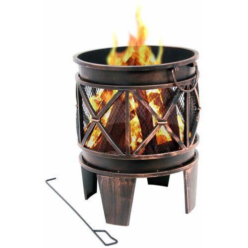 ZELSIUS BBQ-Toro Feuerkorb 'Plum'   Ø 42 x 52,5 cm   Feuerschale, Feuerstelle