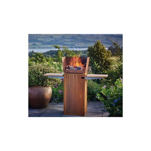 ATTIKA Square Feuerstelle ohne Eichenholzablage - Attika