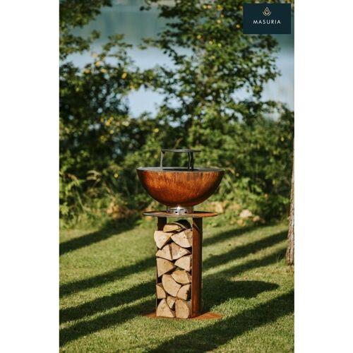 MASURIA Feuerstelle & Plancha Grill Stilo Cortenstahl 60 cm - Masuria