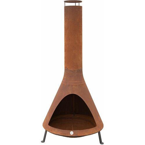 Westmann Feuerstelle mit Rauchablass, rost rost