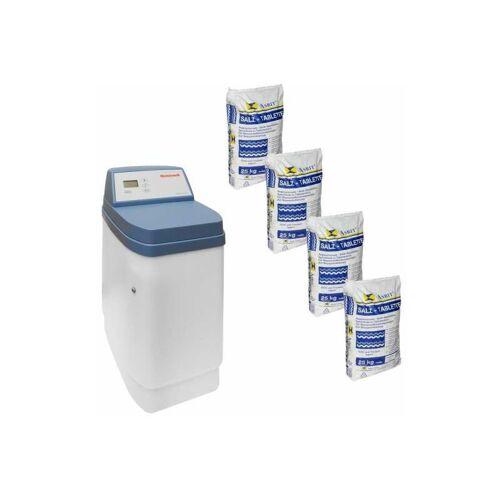 HONEYWELL Enthärtungsanlage KaltecSoft KS10S-30 Wasserenthärtung + 100 kg Salz
