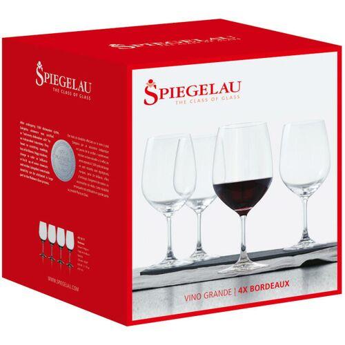 KRISTALLGLASFABRIK SPIEGELAU GMBH Spiegelau Vino Grande Rotwein-Magnum, 4er Set, Rotweinglas, Weinglas,